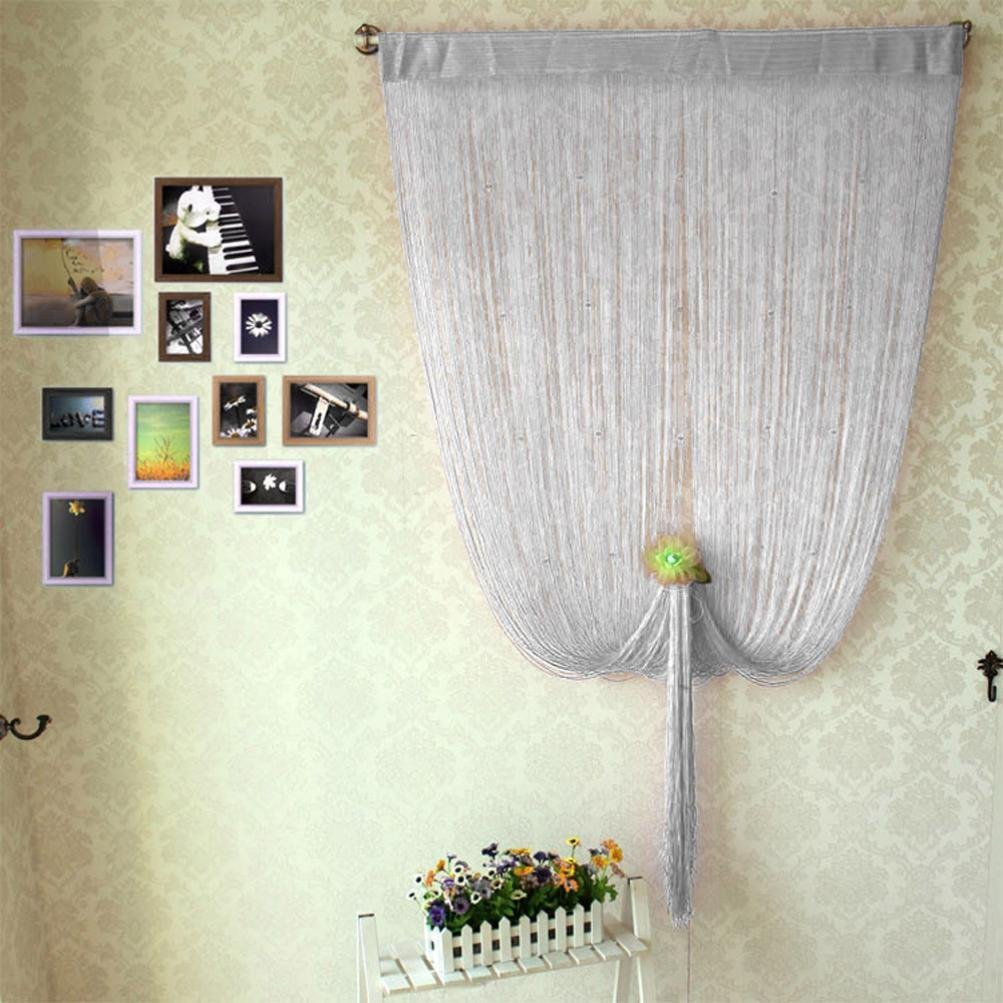 Attractive ... FUA® 1PC 200cm X 100cm Decorative String Curtain With Beads Door Window  Panel Room Divider
