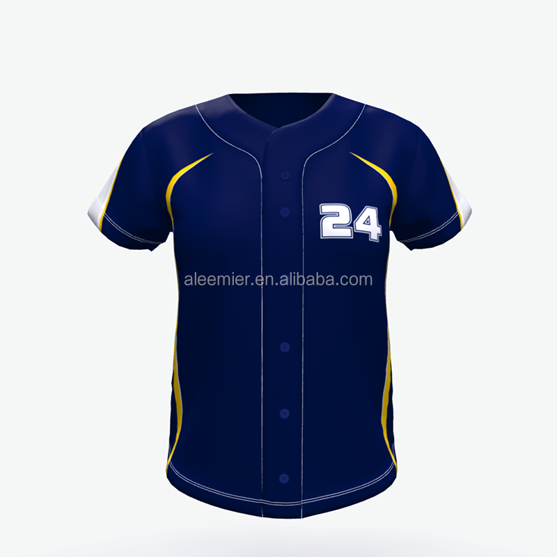 Custom full knop baseball jersey