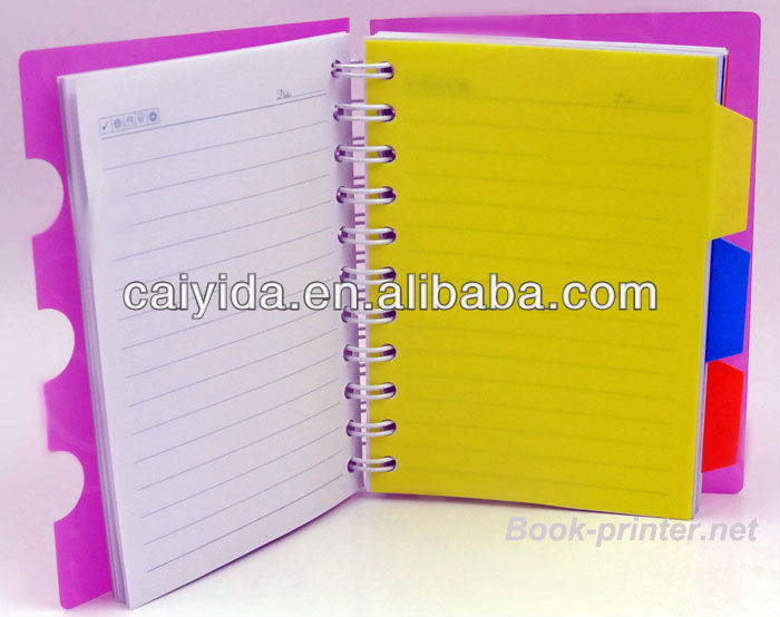 High quality A4 PP cover and active paper note book