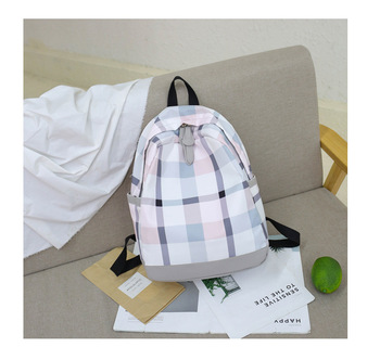 New bag female Korean version of Harajuku high school student backpack ins explosion plaid girlfriends campus backpack