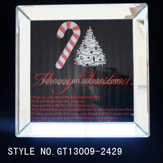 HoHappy 2017 Promotional Printed glass <strong>plate</strong>