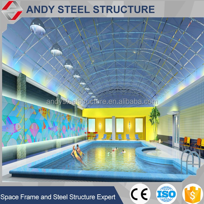 swimming pool construction with space frame