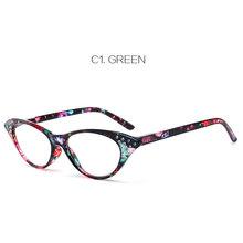 Калейдоскоп очки Для женщин Кошачий глаз Смола очки для чтения дамы алмаз Кошачий глаз дальнозоркость узнать очки(Китай)