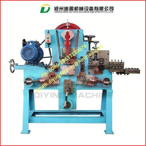 4-6mm wire rod buckle machine with uncoiler / D shape buckle forming machine