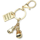 Fashion new man sports boxing gloves key chain fitness metal backpack button