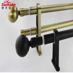 Factory Price Adjustable Double or Single Curtain Rod and Pole from China
