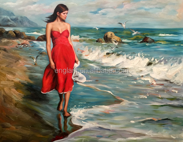 High Quality Modern Knife Woman oil painting large stock