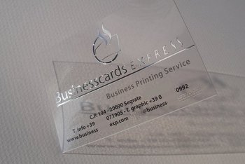 Transparent business cards w hot foil stamping buy business card transparent business cards w hot foil stamping colourmoves
