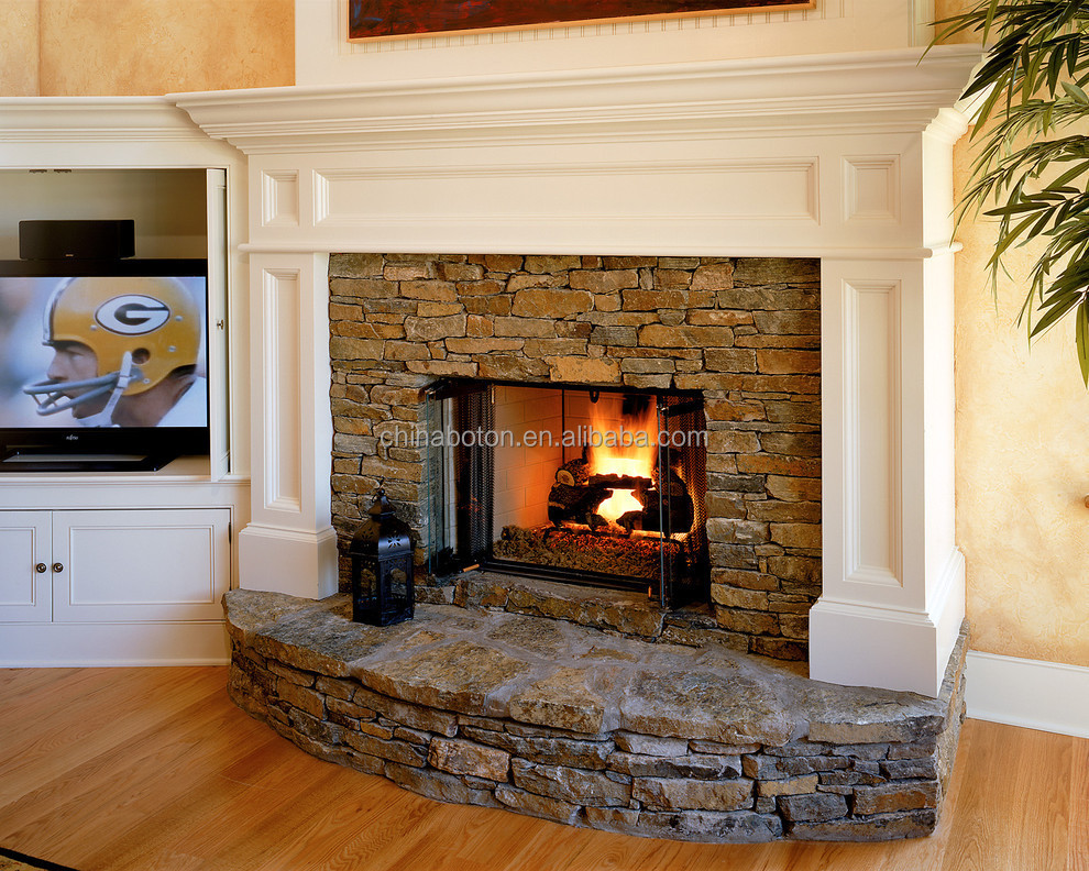 Modern style fireproof material marble fireplace mantels for Buy stone for fireplace