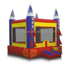 inflatable bouncer,jumping castle,bounce house for saleBlue Rocket Ship Bounce
