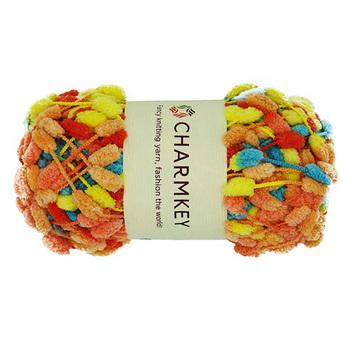 Crochet Pom Pom Ruffle Scarf Fishnet Yarn For Knitting Scarf - Buy Ruffle  Scarf Fishnet Yarn,Ruffle Scarf Yarn,Ruffle Knitting Yarn Product on