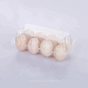 wholesale blister egg tray clear plastic PET 8 pack holes egg transparent tray