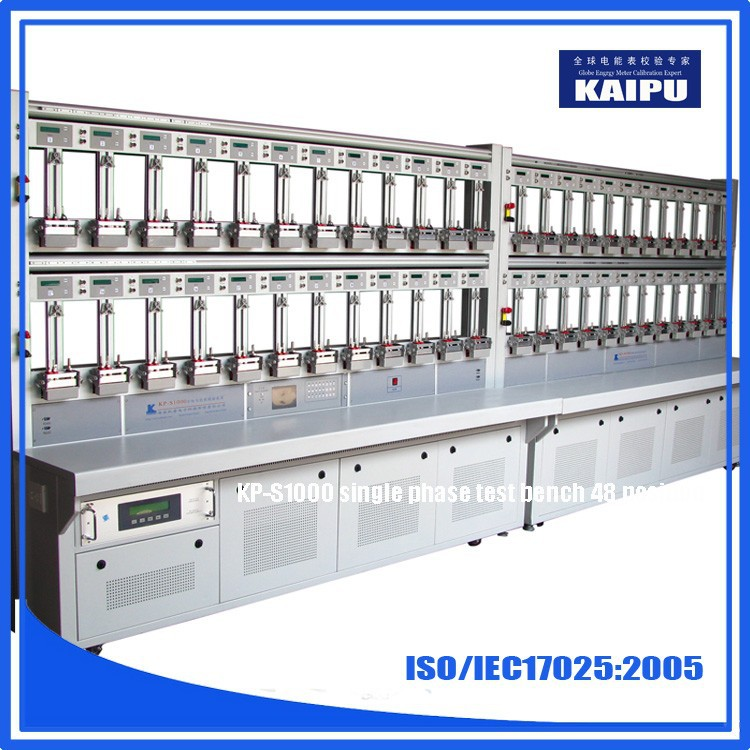 Single phase energy meter calibration test bench 48 postion 0.02% accurancy