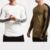 Custom Tshirt Cotton Breathable White/black three quarter sleeves T shirt Printing Blank stretch cotton t shirt for men