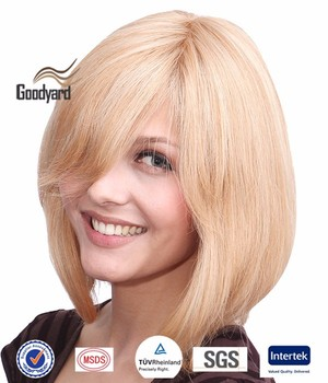 Mono Top Wigs Human Hair Synthetic Blend Short Layered Style Buy