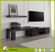 black color hotel use simple cheapest TV stand