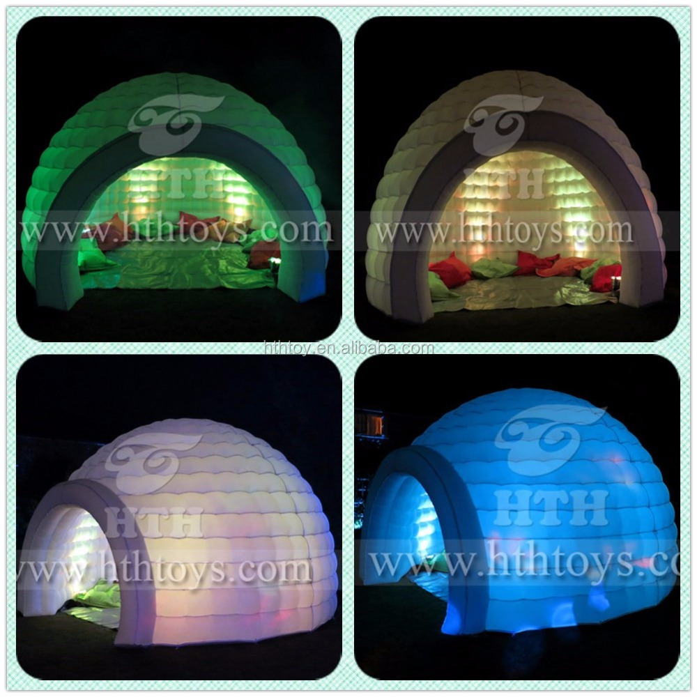 Led light wedding tent inflatable igloo tent for sale