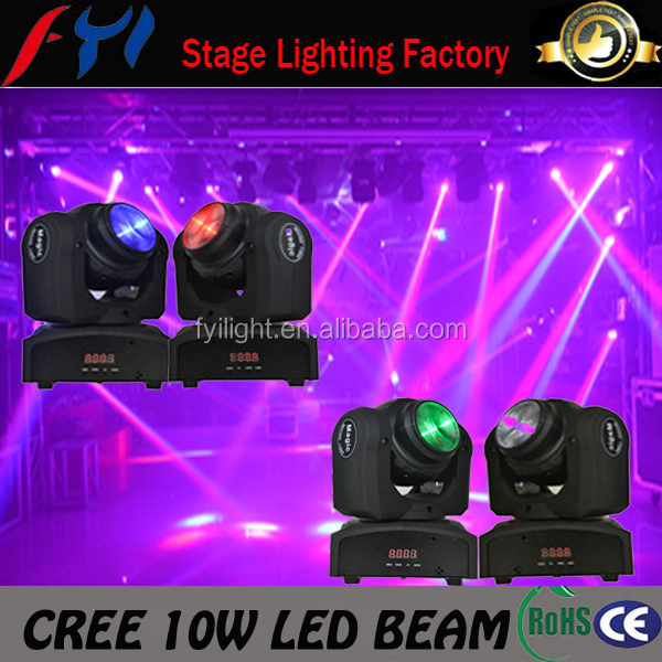 Popular cheap Double faces 10W mini stage unlimited tilt moving head beam light