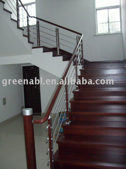 Stainless Steel + Wood Stair Handrail   Buy Stair Handrail,Platform Stair  Handrail,Stainless Steel Pipe Stair Handrail Product On Alibaba.com
