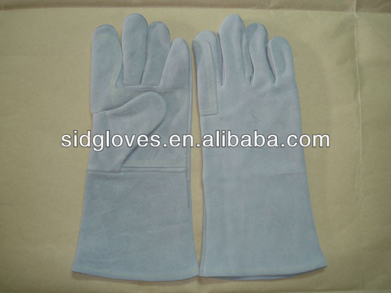 MIG cow split leather welding gloves 5125 welding hand gloves