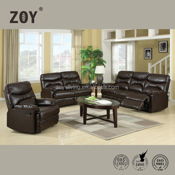 ZOY 91490 Modern Comfortable Sectional Functional Sofa Leather Furniture  Design For Drawing Room