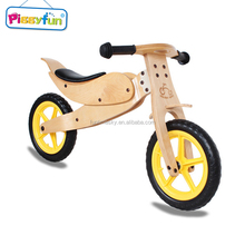 Factory wholesale new eco-friendly children wood bicycle kids wooden balance bike for 2-6 year old
