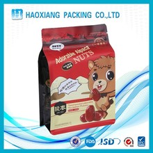 Biodegradable resealable waterproof food packaging flat bottom black plastic bag manufacturers pouch with zipper