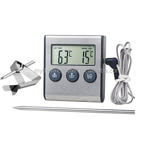 Alarm Digitale Voedsel Oven Thermometer/grillen Thermometer met Timer