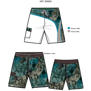 low moq custom summer breathable quick dry polyester surf beach board shorts mens swimming trunks with mesh for men