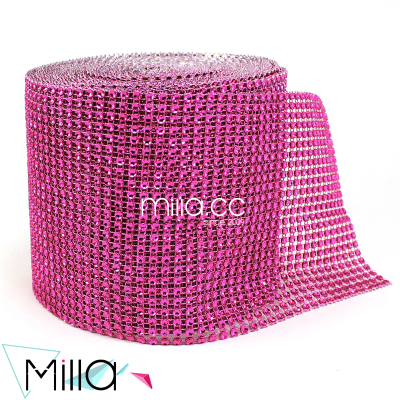 24 rows Crystal Rhinestone Mesh Cake Ribbon Table Runner