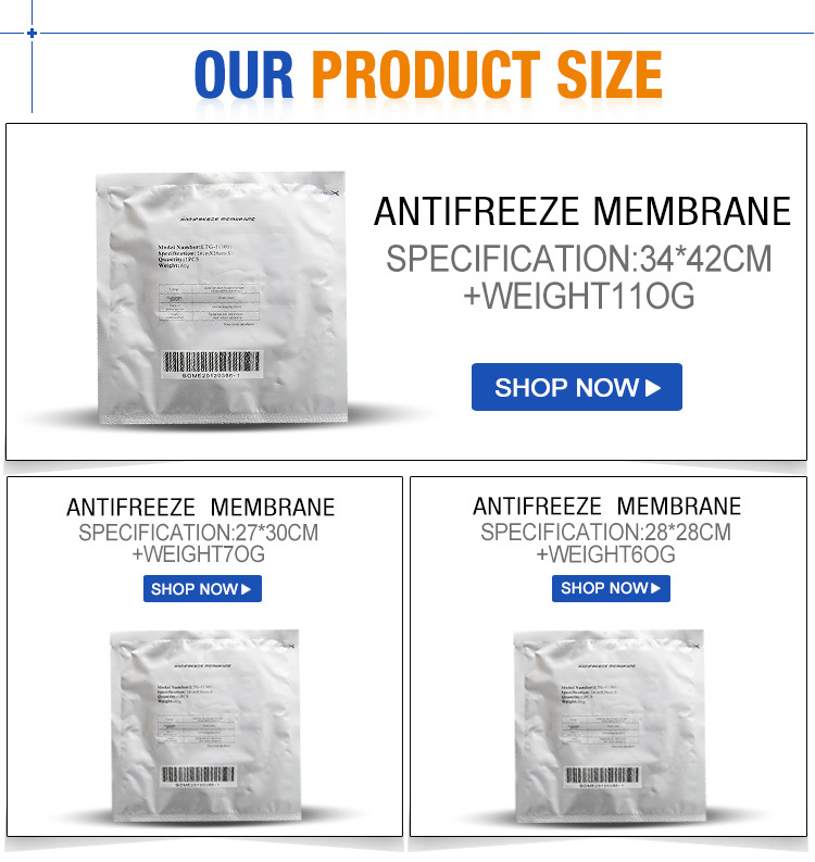 Best quality antifreezing membranes for cryolipolysis machine