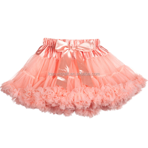 Bulk Wholesale Cheap Tutu Skirts Fluffy Chiffon Pettiskirt Baby Girl's Pettiskirt