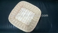 wholesale cheap square nature handcraft wicker plate for table willow fruit tray factory supply