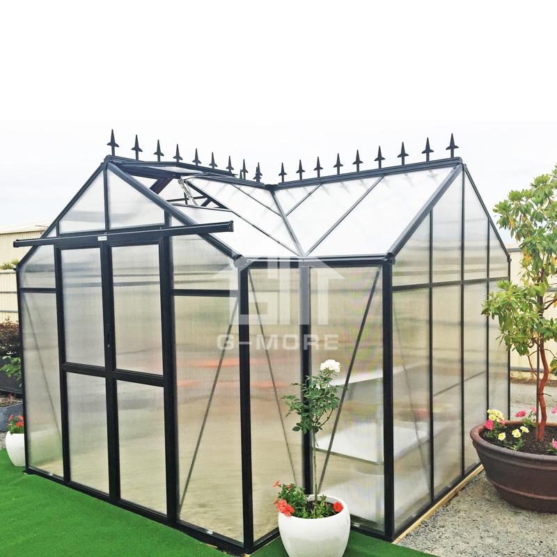 G-MORE Orangery Series, New Design Unique Shape Orangery Glasshouse (GM34506-B 8MM PC)