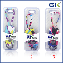 [GGIT] Colorful 0.25M Key Chains Style Data USB Cable For IPhone and Android V8 Charger