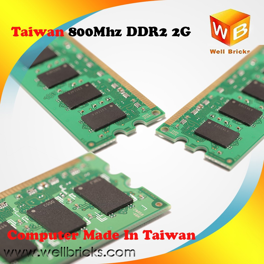 Taiwanese Manufacturer Ddr2 1600mhz ram 2gb compatible motherboards Module Memory