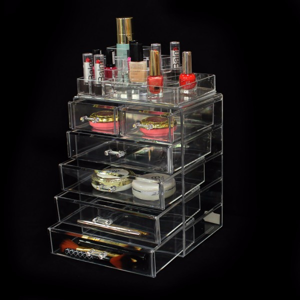 Wholesale 48 Slot Makeup Lipstick Display Holder Rack,Lip Balm Stand,Countertop Acrylic Rotating Lipstick Display Stand Supplier