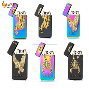 Newest Metal Rechargeable USB Cigarette Flameless Lighter Windproof No Gas  Electric Lighter