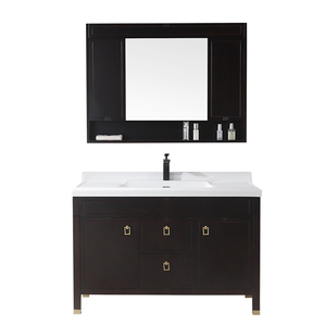 48 inch free standing solid wood luxury antique bathroom sink cabinet combo oak bathroom vanity mirror cabinet furniture product