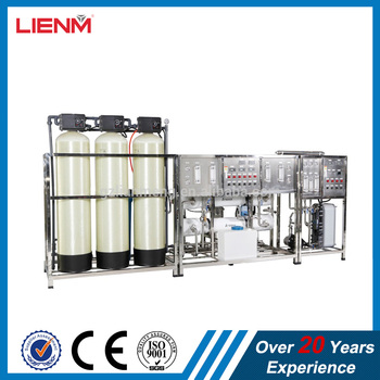 LM-RO-B Two stage automatic glass fiber reverse osmosis water treatment EDI and UV sterilizer