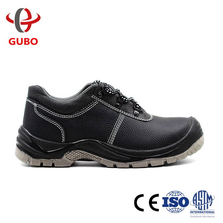 high quality CE standard embossed leather shock absorption safety shoes germany