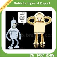 luxury promotional gifts metal robot design memories usb pen drive 2.0