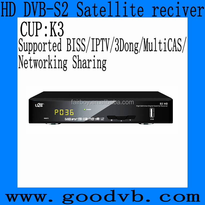 hd dvb-s2 Satellite receiver with WIFI/GPRS dongle