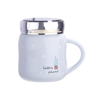 Lipan- Customized Ceramic Coffee Mug Promotional Coffee Ceramic Cup With Mirror Lid