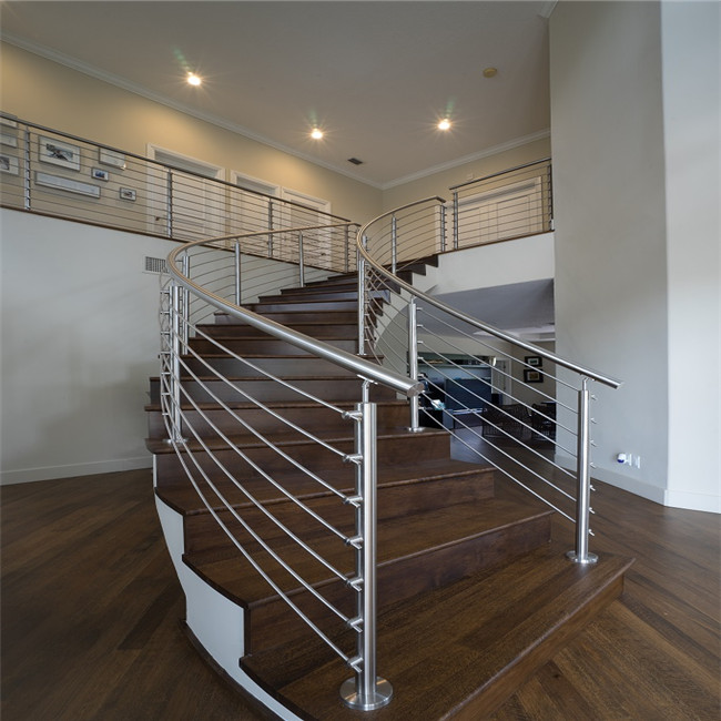 Frameless glass railings with 316stainless steel standoffs