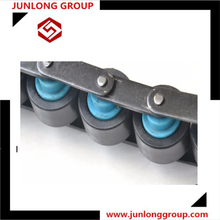 high quality double plus chains conveyor chains with rubber roller attachments use for production line