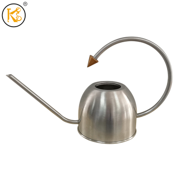 King Style Wholesale Simple Design Home Decor 1L Silver Metal Water Can Garden Watering Can with Handle