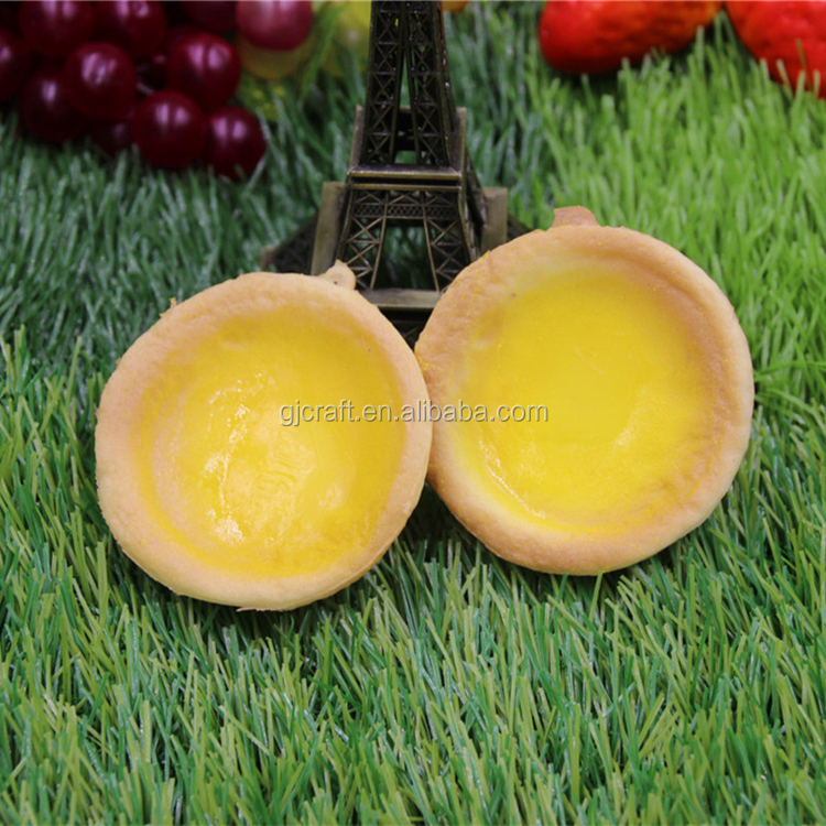 PU Fake Food Sample Simulation Egg Tart For Showcase Display