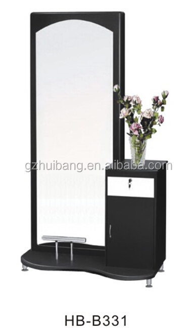 Top Quality Salon Mirror Station With Trolley Hairdressing