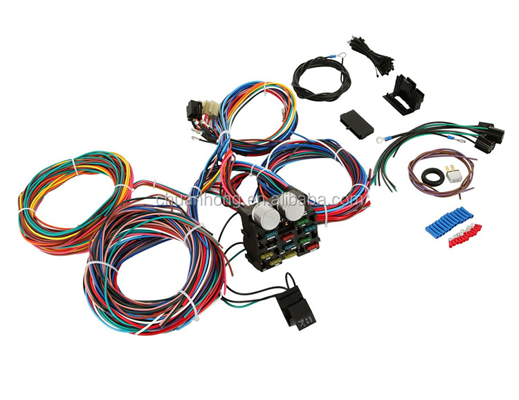 Tuning Repair Fuse Panel Wiring Harness 12 Circuit Way Wire Kit Fit Rhalibaba: Ford Pickup Wiring Harness At Gmaili.net